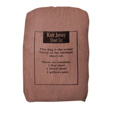 100% Cotton Solid Jersey Knit Sheet Set