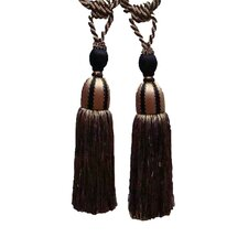 Tone on Tone Large Tassel Curtain Tiebacks (Set of 2)