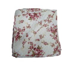 "100% Cotton Quilted Vintage Rosie Reversible 50"" x 60"" Throw"