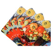 Vegetable Corkback Placemat (Set of 4)