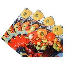 Vegetable Corkback Placemat (Set of 4)