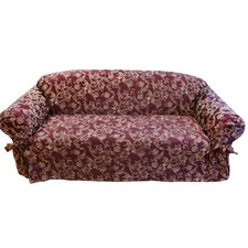 <strong>Textiles Plus Inc.</strong> Jacquard Scroll Loveseat Slipcover
