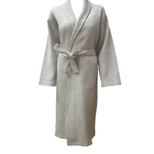 100% Cotton Unisex Shawl Collar Checked Waffel Weave Robe