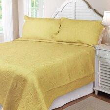 Solid Tuilp Garden Quilt Set