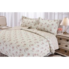 Rose Perfume 3 Piece Quilt Set