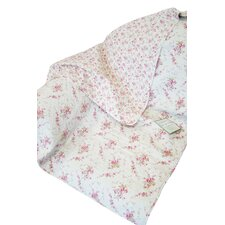 <strong>Textiles Plus Inc.</strong> Rose Perfume Abby Rose Cotton Throw