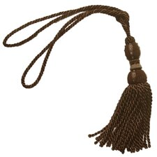 Wood Beaded Head Tassel Curtain Tieback (Set of 2)