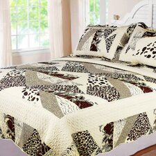Safari 3 Piece Full/Queen Quilt Set