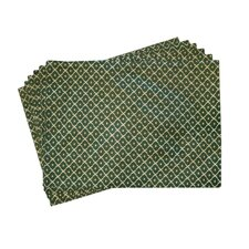 Lined Jacquard Checker Placemat (Set of 6)