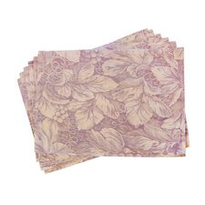 <strong>Textiles Plus Inc.</strong> Lined Jacquard Floral Placemat (Set of 6)