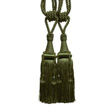 <strong>Textiles Plus Inc.</strong> Pyramid Tassel Curtain Tieback (Set of 2)