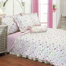 Butterfly Dance Quilt Set With Cushions