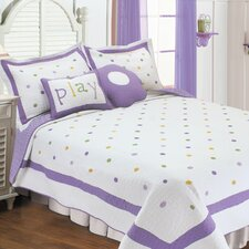 <strong>Textiles Plus Inc.</strong> Polka Dot Quilt Set