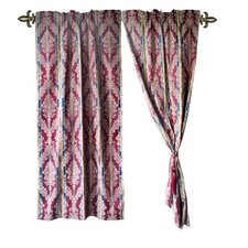 Jacquard Fleur-De-Lis Cotton Rod Pocket Curtain Panel (Set of 2)
