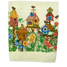 <strong>Textiles Plus Inc.</strong> Printed Bird House Kitchen Towel (Set of 2)