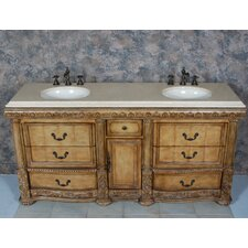 "<strong>Global Treasures</strong> Caroline 72"" Double Bathroom Vanity Set"