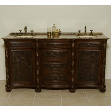 "<strong>Global Treasures</strong> Canterbury 67"" Double Bathroom Vanity Set"