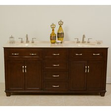"Tawanna 72"" Double Sink Cabinet Bathroom Vanity Set"