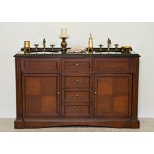 "<strong>Global Treasures</strong> Barclay 60"" Sink Cabinet Bathroom Vanity Set"