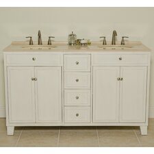 "Janet 60"" Sink Cabinet Bathroom Vanity Set"