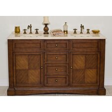"Baron 60"" Double Sink Vanity Set"