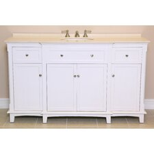 "<strong>Global Treasures</strong> Savannah 60"" Single Sink Vanity Set"