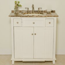 "Patty 34"" Sink Cabinet Bathroom Vanity Set"