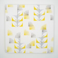 Fugi Floral Textile Painting Print on Canvas