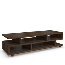 Hadlee Contemporary Walnut Livingroom Small Asymmetric Shelf