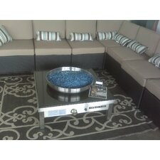 <strong>Urban Fire</strong> Outdoor Stainless Steel Gas Fire Pit with Black Granite Top