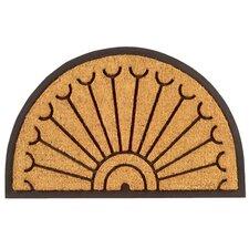 Peacock Half Round Doormat