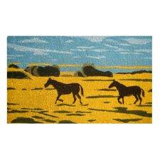 Silhouetted Horses Doormat
