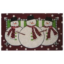 <strong>Imports Decor</strong> Three Snow Men Doormat