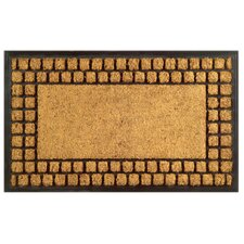 <strong>Imports Decor</strong> Checker Border Doormat