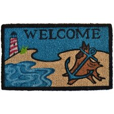 Beach Lighthouse Doormat