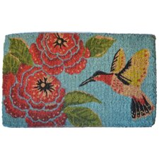Hummingbird and Flower Mat