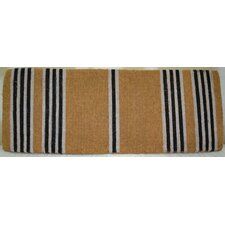 Black Stripes Doormat