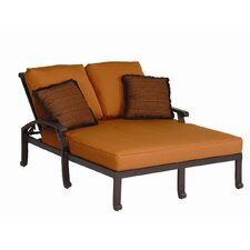 <strong>Sunset West</strong> Newport Double Chaise With Cushion