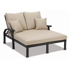 <strong>Sunset West</strong> Del Mar Double Chaise Lounge with Cushion