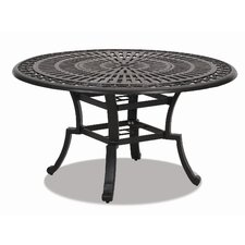 Del Mar Round Aluminum Dining Table