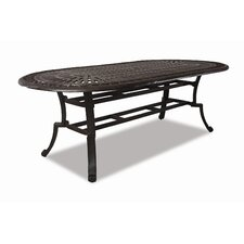 Del Mar Oval Aluminum Dining Table