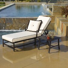 <strong>Sunset West</strong> La Jolla Chaise Lounge with Cushion