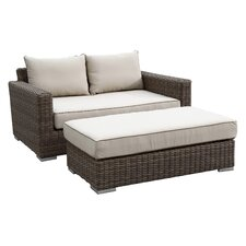 Coronado Deep Seating Double Chaise with Ottoman