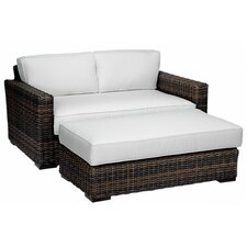 <strong>Sunset West</strong> Montecito Double Chaise Lounge with Cushions