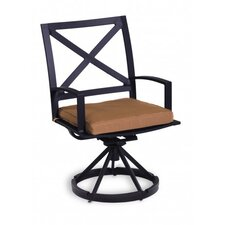 <strong>Sunset West</strong> La Jolla Swivel Dining Arm Chair with Cushion