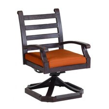 <strong>Sunset West</strong> Newport Swivel Dining Arm Chair with Cushion