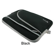"Triple Pocket Neoprene Sleeve Invisible Zipper Case for 12"" Netbook"