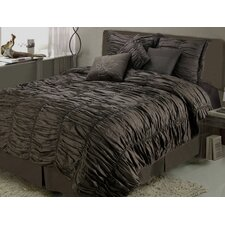 <strong>Jenny George Designs</strong> Ruched Comforter Set