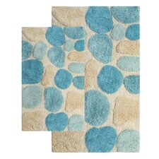 Pebbles Contemporary Bath Rug Set (Set of 2)