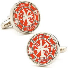 <strong>Cufflinks Inc.</strong> Firemens Shield Cufflinks